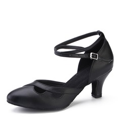 Donna Vera pelle Tacchi Latino Scarpe da ballo
