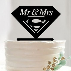Letter Acrylic Cake Topper (Set of 2)