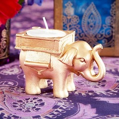 LUCKY ELEPHANT TEALIGHT HOLDER Indian Themed Wedding Decor  (Set of 3)