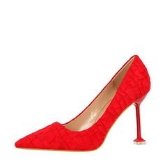 Kvinnor Mocka Stilettklack Pumps Stängt Toe med Andra skor