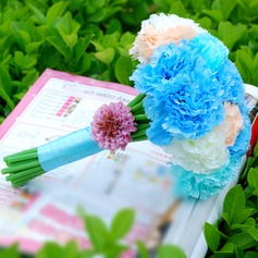 великолепный Круглый ткань Свадебные букеты -