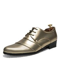 Menn Patentert Lær Blondér Pen sko Oxfordsko til herre