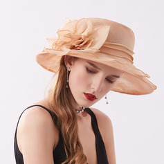 Ladies ' Elegant/Fancy Netto garn/Blonder/Chiffon med Blomst Strand / Sun Hatte/Kentucky Derby Hatte/Tea Party Hats