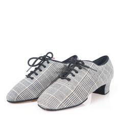 Hommes Toile Talons Latin Chaussures de danse