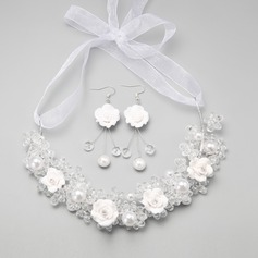 Elegant Alloy/Crystal/Ceramic/Imitation Pearls Ladies' Jewelry Sets