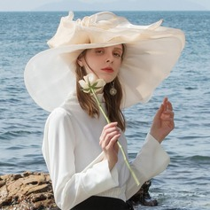 Dames Kleurrijk Organza met Feather Slappe Hat/Kentucky Derby Hats