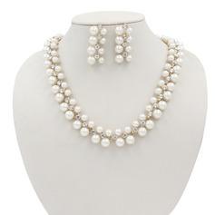 Vakkert Legering/Imitert Perle Damene ' Smykker Sett