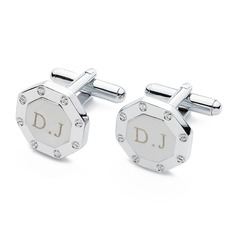 Personalized Octagonal Stainless Steel Cufflinks (Set of 2)