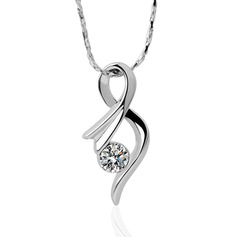 Elegant Alloy/Zircon Ladies' Necklaces