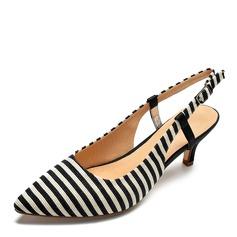Frauen Stoff Stöckel Absatz Sandalen Absatzschuhe Schuhe