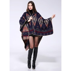 Stampa geometrica oversize/Scialle Poncho (204094211)