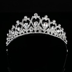 Ladies Eye-catching Alloy Tiaras With Rhinestone (Sold in single piece)