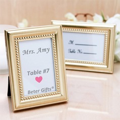 4 x 3 inch Gold Photo Frame Place Card Holder (Sold in a single piece)