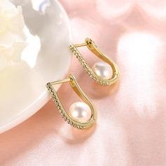 Härlig koppar Damer' Mode örhängen