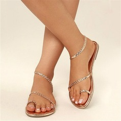 Women's Leatherette Flat Heel Sandals Flats Peep Toe Slingbacks With Others shoes (087207038)
