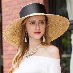 Dames Style Classique Raphia paille Chapeau de paille