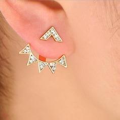 Stylish Alloy Rhinestones With Rhinestone Women's Fashion Earrings (Sold in a single piece)
