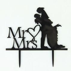 Mr & Mrs Acrílico Casamento Decorações de bolos