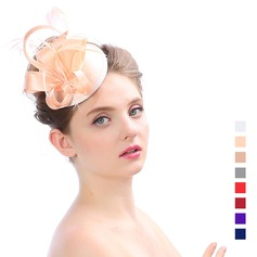 Dames Elegant Organza met Feather Fascinators