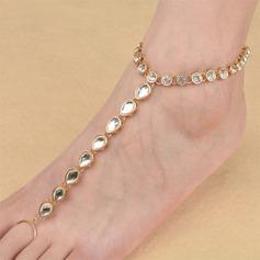 Tekojalokivi Alloy Foot Smykker (Myyty yhtenä palana)