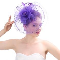 женские Красивая/великолепный/Мода/Специальный/Гламурный чистая пряжа с перо Вуалью