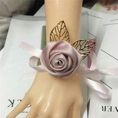 Satin Håndledd Corsage (som selges i et enkelt stykke) -