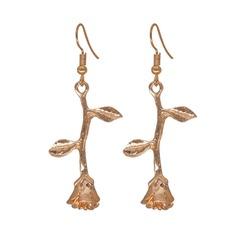 Einzigartig Legierung mit Vergoldet Frauen Art-Ohrringe