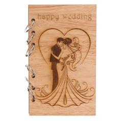 """""""Liefdesverhaal""""/Gelukkig Huwelijk Bride en Bruidegom Houten Notitieboek (Verkocht in één stuk)"""