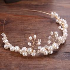 Ladies Elegant Alloy/Imitation Pearls Tiaras With Venetian Pearl