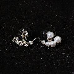 Fin Legering Imitert Perle med Imitert Perle Damene ' Fashion øredobber