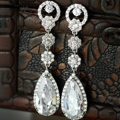 Beautiful Zircon Ladies' Earrings (011110904)