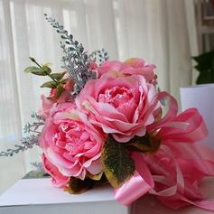 Charmant Forme libre Satiné Bouquets de mariée -