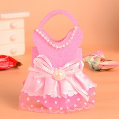 Baby Dress Design Handbag shaped Favor Bags With Bow