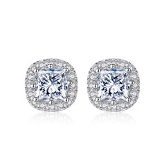 Ladies' Classic 925 Sterling Silver Cubic Zirconia Earrings For Bride/For Bridesmaid/For Mother