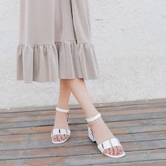 Frauen PU Stämmiger Absatz Sandalen Absatzschuhe Peep Toe Slingpumps Schuhe