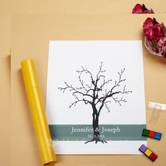 """Our Wedding Tree"" Fingerprint Signature Canvas"