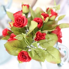 Elegant Free-Form Fabric Bridesmaid Bouquets/Decorations -