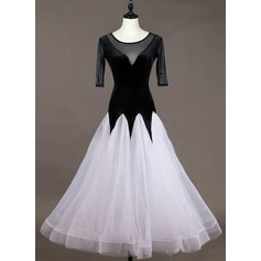 Women's Dancewear Spandex Organza Performance Dresses