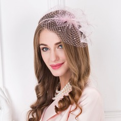 Dames Style Vintage Tulle avec Feather Chapeaux de type fascinator