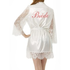Personalized Bride Satin Lace With Short Personalized Robes Satin & Lace Robes (248149558)