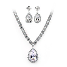 Bonito Zircon/Platinadas Mulheres Conjuntos de jóias