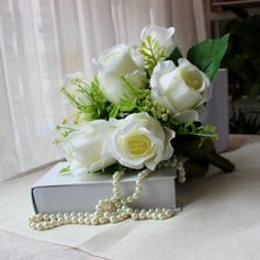 Classic Free-Form Satin Bridal Bouquets -