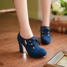 Femmes Suède Talon bottier Escarpins Plateforme Bout fermé chaussures