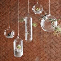 Diameter 10cm Härlig Enkel Hängande Glas Vas (Säljs i ett enda stycke)