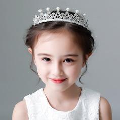 Kids Beautiful Rhinestone/Alloy/Imitation Pearls Tiaras With Rhinestone/Venetian Pearl (Sold in single piece)
