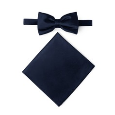 Style Classique Bow Tie Pocket Square charmeuse