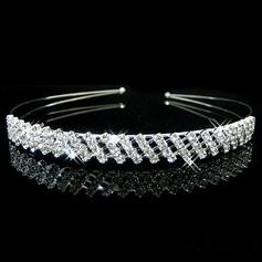 Damer Vackra Och Legering Tiaror/Pannband med Strass (Säljs i ett enda stycke)