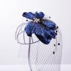 Senhoras Elegante Seda artificiais/Fio rede/Tule Fascinators