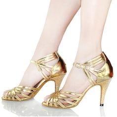 Femmes Similicuir Talons Sandales Latin avec Boucle Ouvertes Chaussures de danse