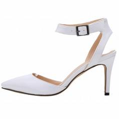 Женщины Лакированная кожа Высокий тонкий каблук На каблуках Закрытый мыс обувь